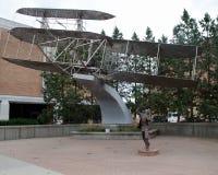 Wright Brothers Biplane stock photos