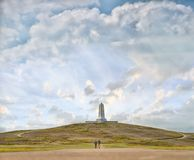 Wright brothers memorial in North Carolina. The Wright Brothers National memorial in Kill Devil Hills, North Carolina Royalty Free Stock Photo
