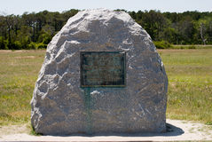 Wright Brothers National Memorial in Kitty Hawk North Carolina Royalty Free Stock Photo