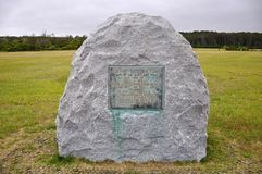 Wright Brothers National Memorial, NC, de V.S. Royalty-vrije Stock Afbeeldingen