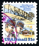 Wright Brothers USA Postage Stamp Stock Image