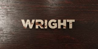 Wright - grungy wooden headline on Maple  - 3D rendered royalty free stock image Stock Images