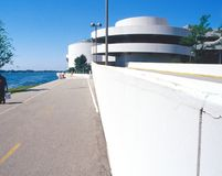 Wright Monona Terrace. Frank Lloyd Wright designed Monona Terrace Community and Convention Center along Lake Monona in Madison Wisconsin united stated of america royalty free stock images