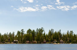 Wrights Lake summer cabins Royalty Free Stock Photography
