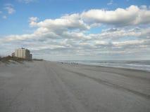 Wrightsville plaża przy półmrokiem Zdjęcia Royalty Free