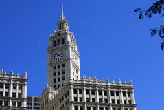 Wrigley Building with blue sky Royalty Free Stock Image