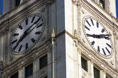 Wrigley Building in Chicago stock photography