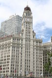 Wrigley Building. Chicago clock tower Stock Photo