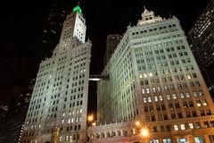 Wrigley Building at night Royalty Free Stock Photography