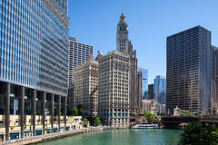 Wrigley building in Chicago. Royalty Free Stock Image