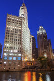 The Wrigley Building in Chicago in the USA. The Wrigley Building on Michigan Ave in Chicago in the USA stock photography