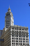 Wrigley Building clock tower Royalty Free Stock Photography