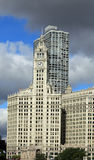 Wrigley Building clock tower Royalty Free Stock Photos
