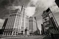 Wrigley building clock tower Stock Images