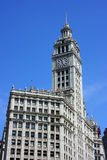 Wrigley building clock tower Stock Image