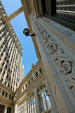Wrigley Building from the ground walkway Stock Photo