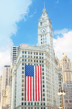 Wrigley Building on September 11 Stock Photography