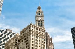 Wrigley Building, is a skyscraper located directly across Michigan Avenue in Chicago, USA Royalty Free Stock Photography