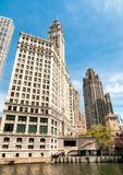 Wrigley Building, is a skyscraper located directly across Michigan Avenue in Chicago, USA Stock Images