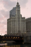 Wrigley Building at sunset Stock Photography
