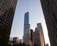 Wrigley building and Trump tower Chicago Stock Images