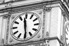 Wrigley Clock. In downtown Chicago Stock Images