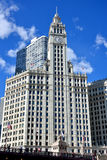 Wrigley Clock Tower,Chicago Stock Image
