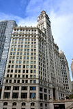 Wrigley Clock Tower, Chicago. Wrigley building clock Tower in Chicago at North Michigan Avenue and the Michigan Avenue. Chicago, Illinois, United States Royalty Free Stock Photos