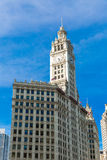 Wrigley Clock Tower in Chicago, Illinois, USA Stock Photography