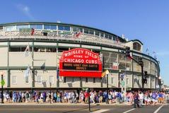 Wrigley coloca, Chicago foto de archivo libre de regalías