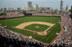 Wrigley coloca, Chicago Fotografia de Stock