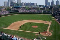 Wrigley coloca - Chicago Cubs Foto de Stock