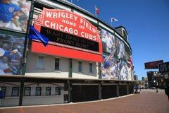 Wrigley coloca - Chicago Cubs Imagens de Stock