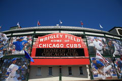 Wrigley coloca - Chicago Cubs fotografía de archivo libre de regalías