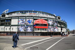 Wrigley coloca - Chicago Cubs Imagem de Stock