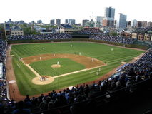 Wrigley coloca - Chicago Cubs Imagenes de archivo