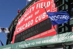 Wrigley coloca la carpa después de que triunfo de Cubs NLCS Imagen de archivo libre de regalías