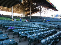 Wrigley Field - Chicago Cubs. Ushers and obstructed seating at Wrigley Field, the Chicago Cubs old time home ballpark Royalty Free Stock Photo