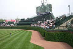 Wrigley Field - Chicago Cubs Bleachers and Ivy Royalty Free Stock Image