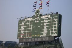 Wrigley Field - Chicago Cubs Scoreboard royalty free stock photos