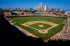 Wrigley Field, Chicago, IL Arkivfoton