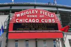 Wrigley Field, Chicago, Illinois Royalty Free Stock Images