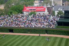 Wrigley Field - Famous Bleachers Royalty Free Stock Photos
