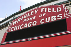 Wrigley Field Home of Chicago Cubs. A Blank Wrigley Field Sign in Chicago royalty free stock photography