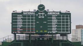 Wrigley Field Iconic Scoreboard Stock Photos