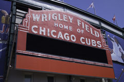 Wrigley Field Marquee Royalty Free Stock Photo