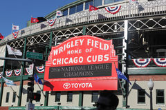 Wrigley Field Marquee after Cubs NLCS Win Royalty Free Stock Photo