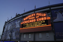 Wrigley Field Marquee Stock Image