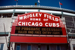 Wrigley Field outside sign Royalty Free Stock Images