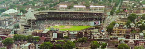 Wrigley Field Panoramic Stock Photo